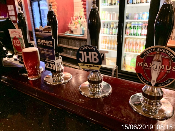 Beer Pumps in The Gatekeeper, Cardiff